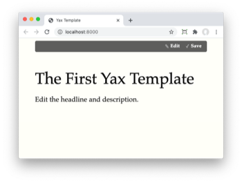Try Yax Template